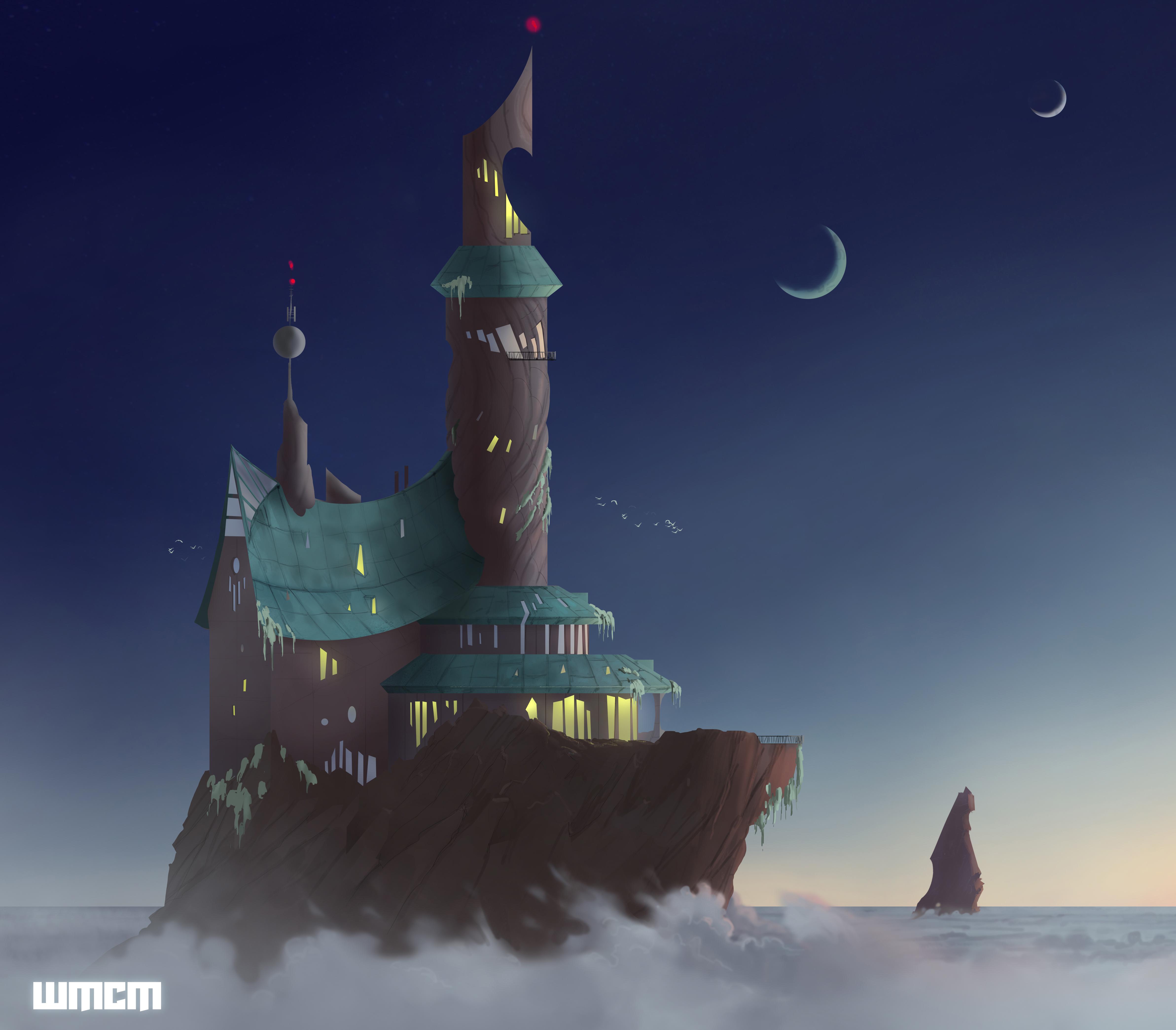 """Design des Wolkenschloss aus der Kurzgeschichte """"With morning comes mistfall"""" von George R.R. Martin"""