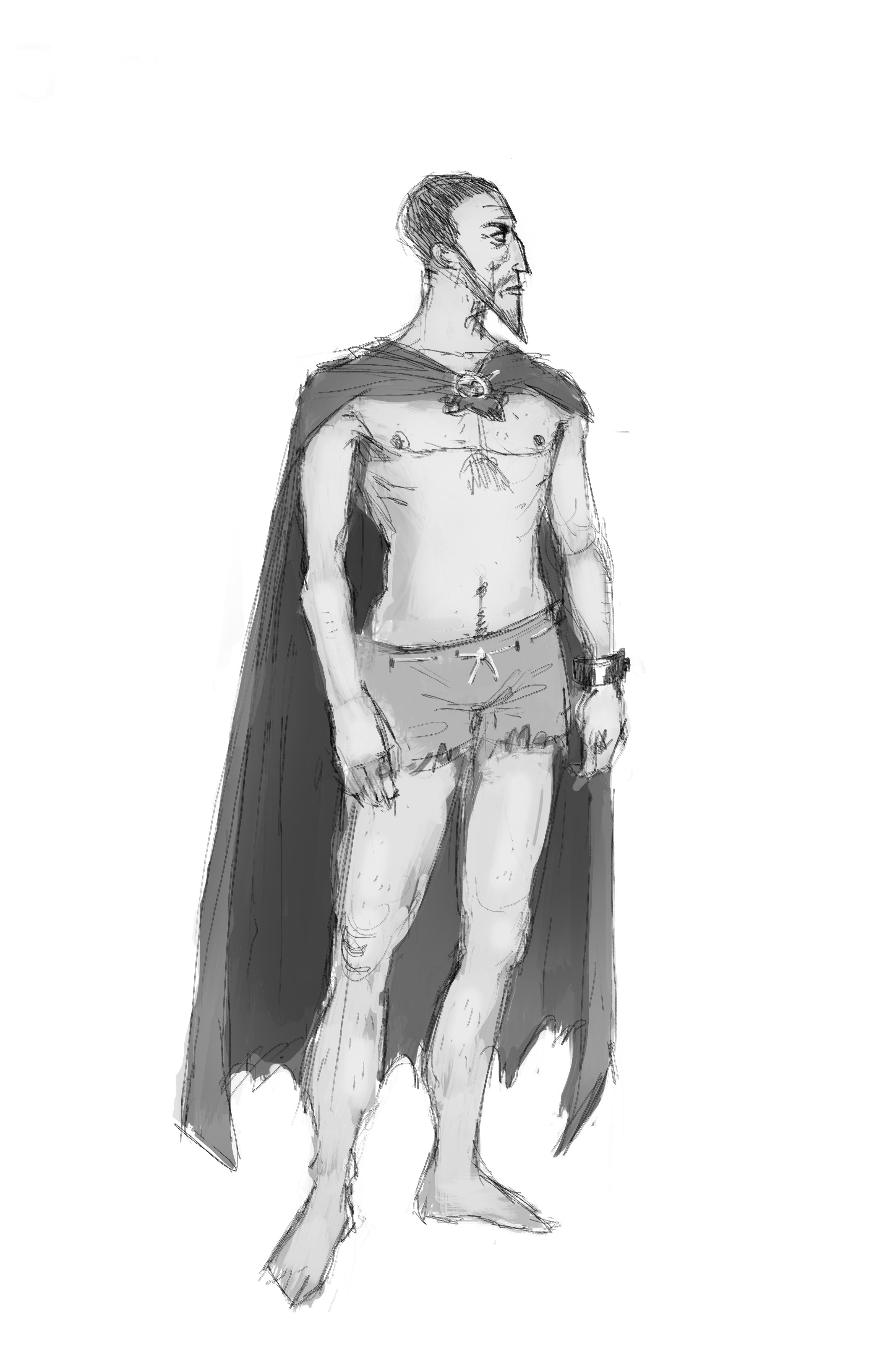 """Characterdesign von Josua aus der Geschichte """"Der Drachenbeinthron"""" von Tad Williams"""